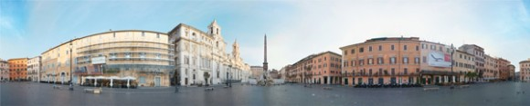 The Piazza Navona 360 panoramic view